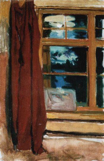 Kalelas Library in Moonlight | Akseli Gallen Kallela | oil painting