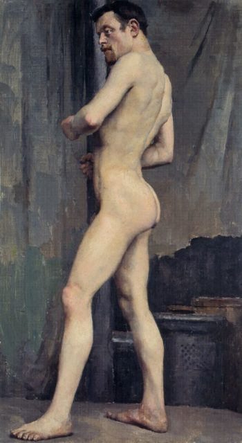 Male Nude | Akseli Gallen Kallela | oil painting