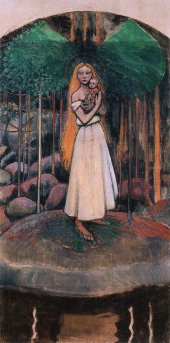 Marjatta and the Christ Child | Akseli Gallen Kallela | oil painting