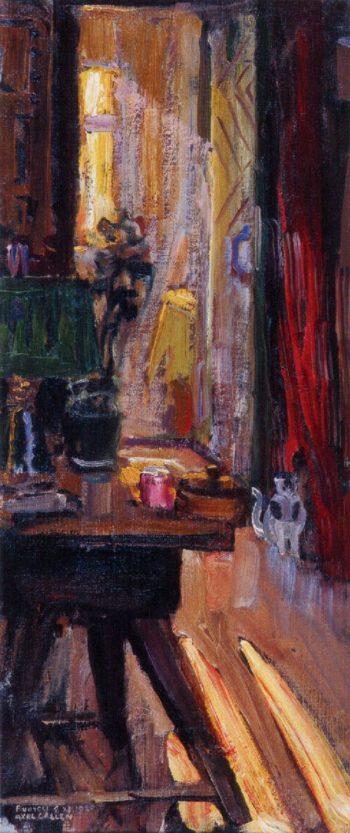 Entrance to Kalelas Dining Room 1 | Akseli Gallen Kallela | oil painting