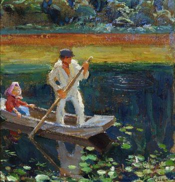 The boat | Akseli Gallen Kallela | oil painting