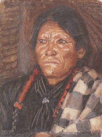 The Indian Siu Ohutaa | Akseli Gallen Kallela | oil painting