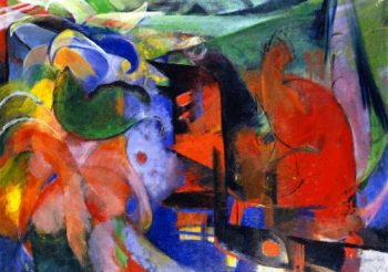 Abstract Forms II | Franz Marc | oil painting