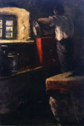Alpine Herdsman in His Cottage | Franz Marc | oil painting