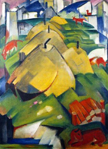 Alpine Scene | Franz Marc | oil painting