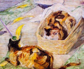 Cat Basket | Franz Marc | oil painting