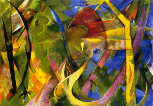 Cheerful Forms | Franz Marc | oil painting