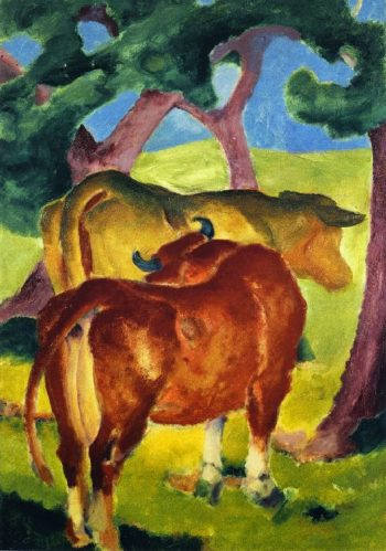 Cows under Trees | Franz Marc | oil painting