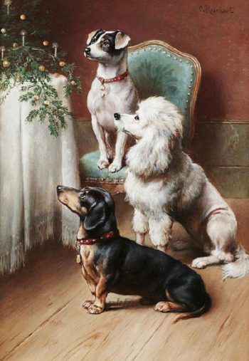 A Christmas Treat | Carl Reichert | oil painting
