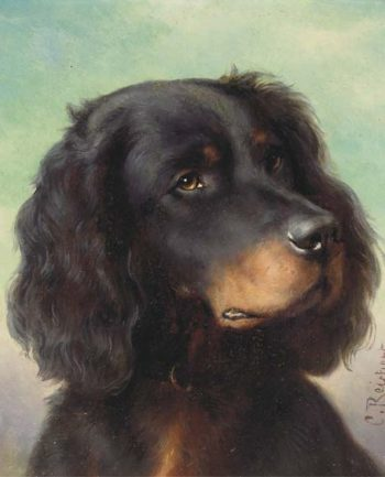 A Gordon setter | Carl Reichert | oil painting