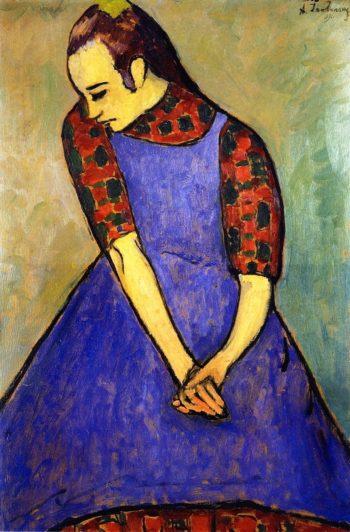 Blue Apron   Alexei Jawlensky   oil painting