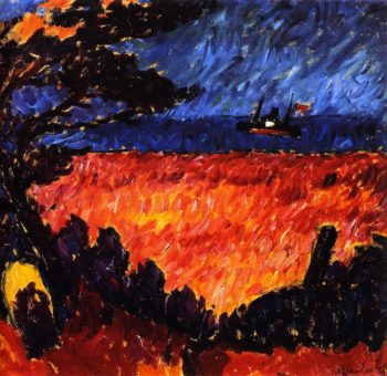 On the Baltic   Alexei Jawlensky   oil painting