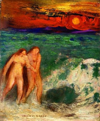 Adam and Eve | Odilon Redon | oil painting