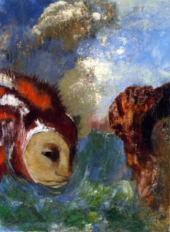 Angelica and the Dragon | Odilon Redon | oil painting