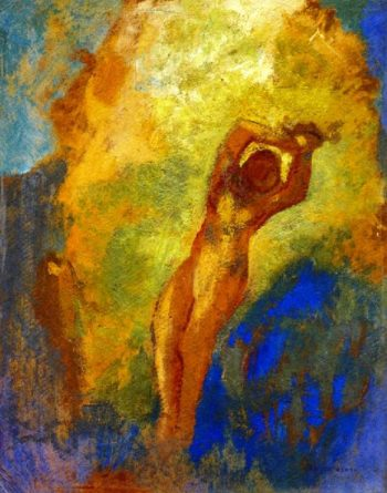 Angelica on the Rock | Odilon Redon | oil painting