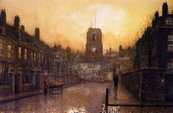 An Idyll of Old Chelsea | John Atkinson Grimshaw | oil painting