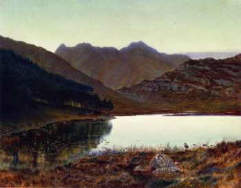 Blea Tarn First Light Langdale Pikes in the Distance | John Atkinson Grimshaw | oil painting