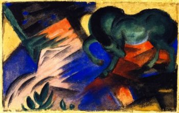 Green Horse | Franz Marc | oil painting