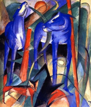 Creation of Horses | Franz Marc | oil painting