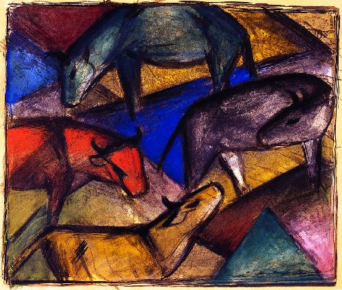 Cows | Franz Marc | oil painting