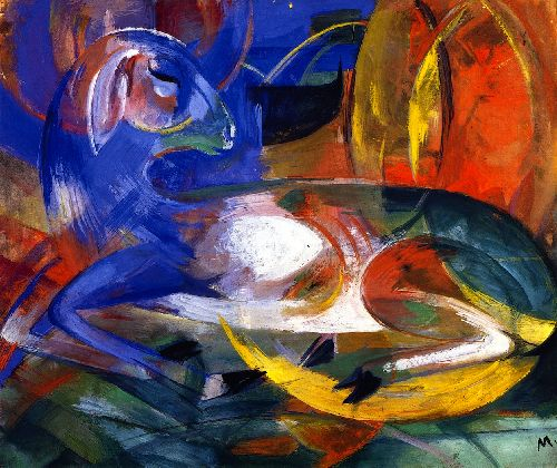 Blue Lamb | Franz Marc | oil painting