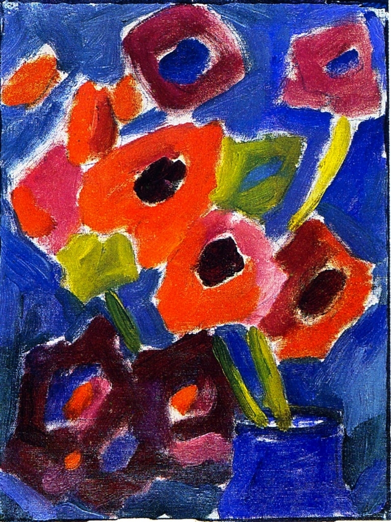 Flowers In A Blue Vase Painting Alexei Jawlensky Oil Paintings