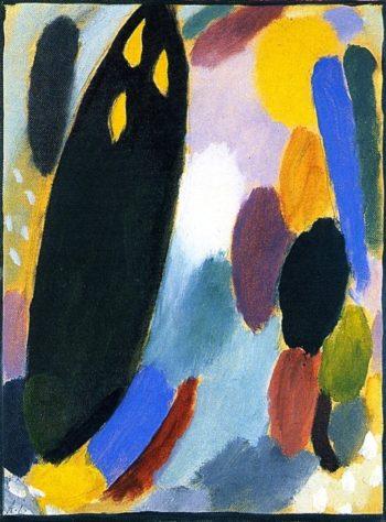 Variation Black Tree   Alexei Jawlensky   oil painting