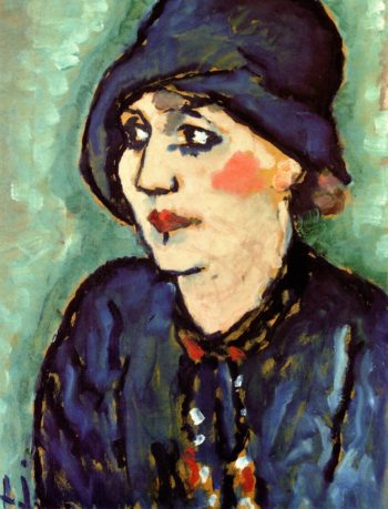 Woman in a Blue Hat   Alexei Jawlensky   oil painting