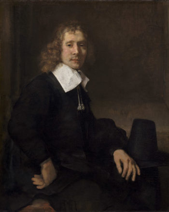 A Young Man Seated at a Table (possibly Govaert Flinck)