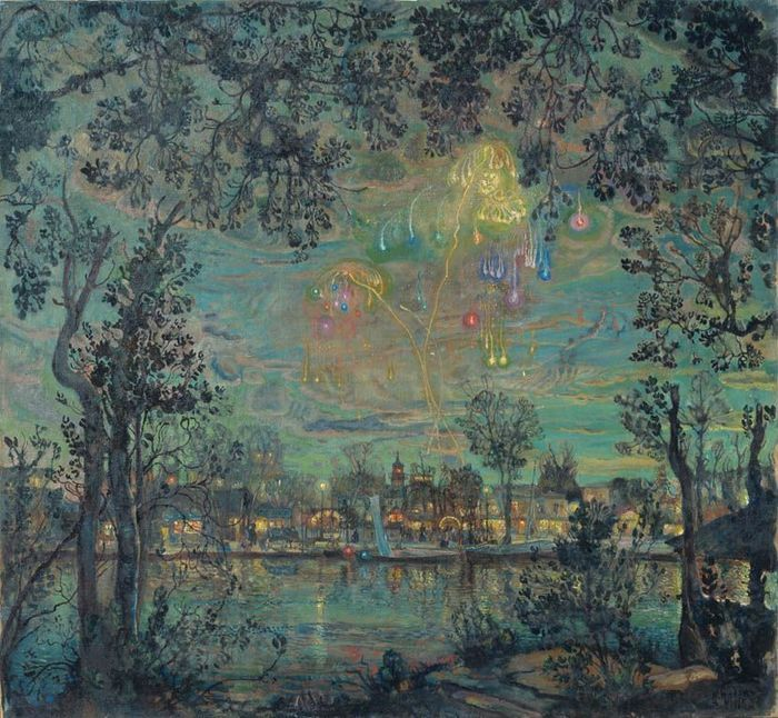 fireworks painting isaak brodsky oil paintings