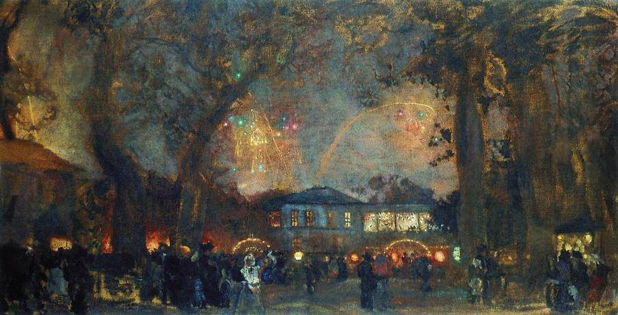 fireworksv painting isaak brodsky oil paintings