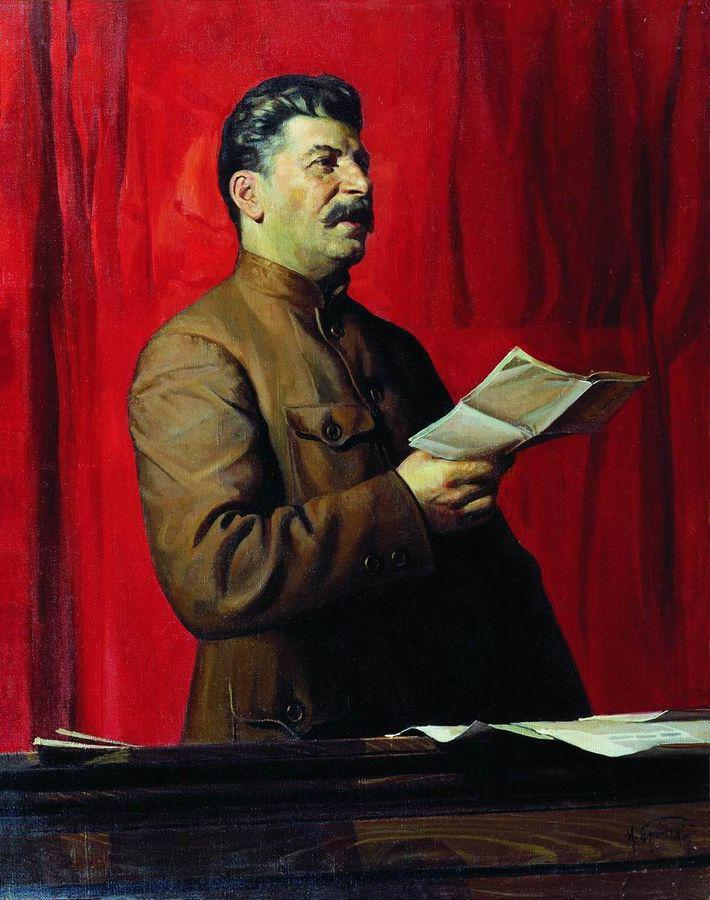 Portrait of Joseph Stalin 1 | Isaak Brodsky | oil painting