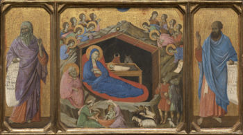 The Nativity with the Prophets Isaiah and Ezekiel