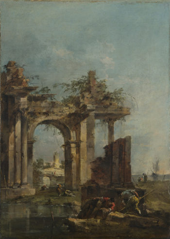 A Caprice with Ruins on the Seashore | Francesco Guardi | oil painting