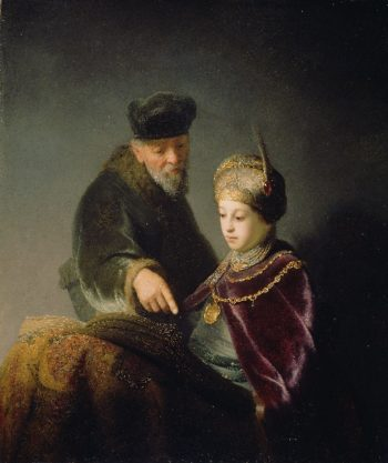 A Young Scholar and his Tutor | Rembrandt | oil painting