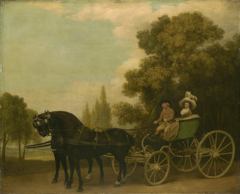 A Gentleman driving a Lady in a Phaeton | George Stubbs | oil painting