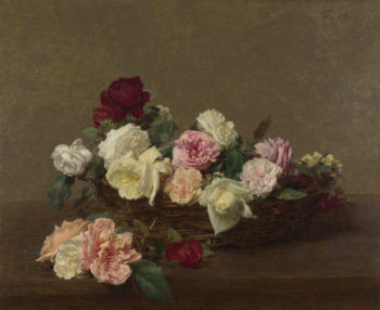 A Basket of Roses | Ignace-Henri-Theoodore Fantin-Latour | oil painting
