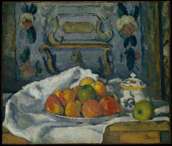Dish of Apples (ca 1876-77) | Paul Cezanne | oil painting