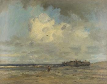A Beach | Jacob Maris | oil painting
