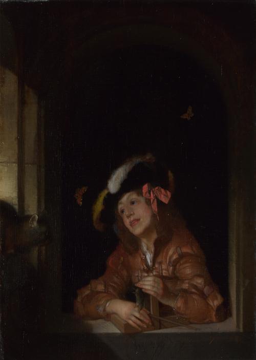 A Boy with a Mousetrap | Adriaen van der Werff | oil painting