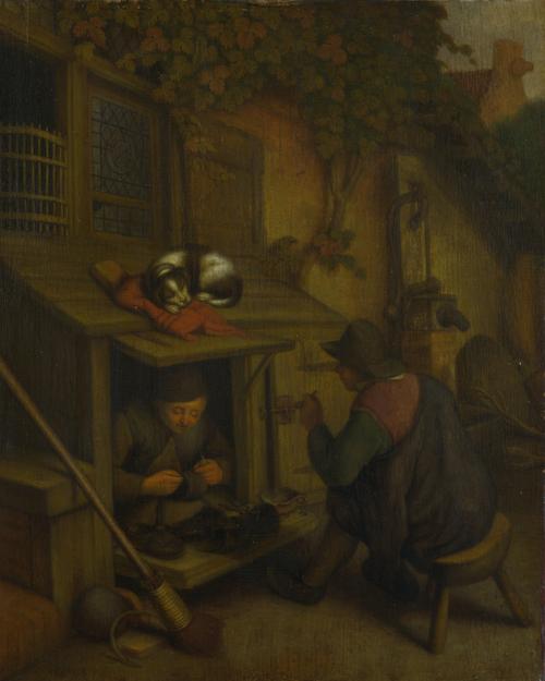 A Cobbler | After Adriaen van Ostade | oil painting