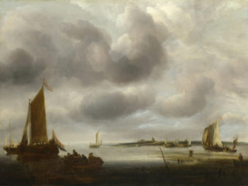 A Coast Scene | Jan van de Cappelle | oil painting