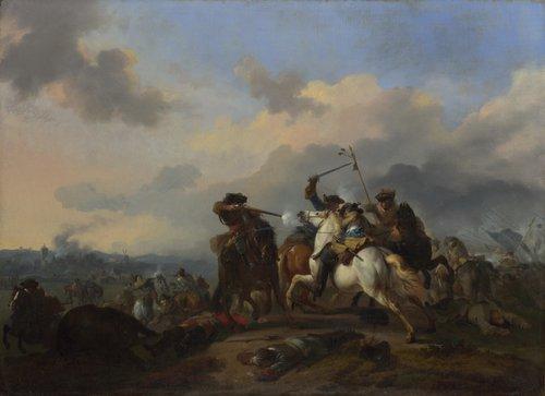 A Battle | Jan van Huchtenburgh | oil painting