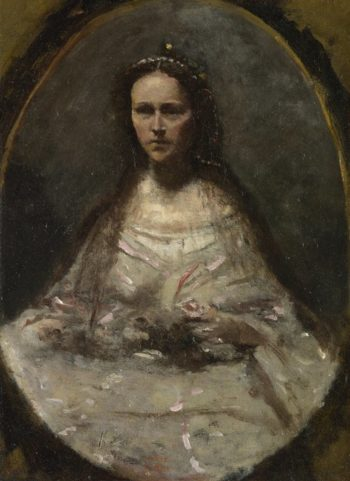 Sketch of a Woman in Bridal Dress | Jean-Baptiste-Camille Corot | oil painting