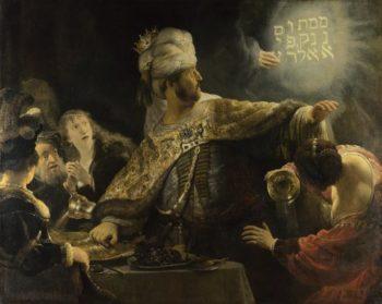 Belshazzar's Feast   Rembrandt   oil painting