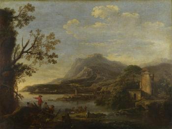 A Coastal Scene | Style of Salvator Rosa | oil painting