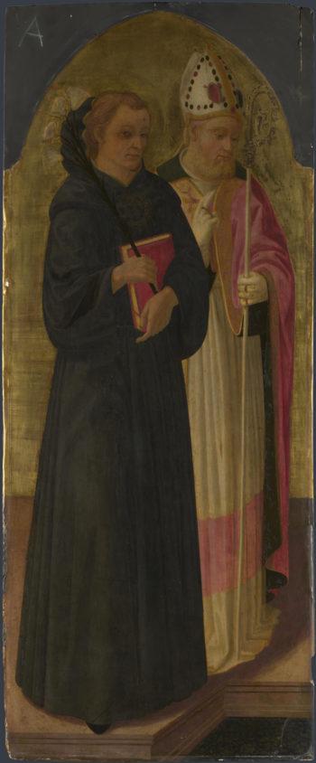 A Bishop Saint and Saint Nicholas of Tolentino | Zanobi Machiavelli | oil painting