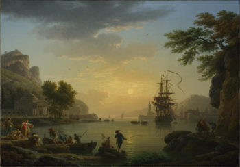 A Landscape at Sunset | Claude-Joseph Vernet | oil painting
