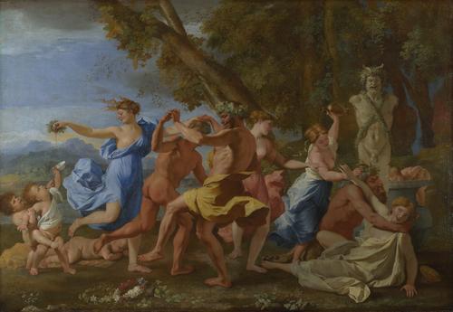 A Bacchanalian Revel before a Term | Nicolas Poussin | oil painting