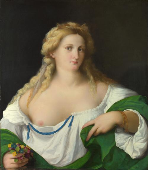 A Blonde Woman | Palma Vecchio | oil painting